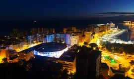 Malaga and Mediterranean  in  nigh Stock Photos