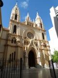 Malaga miasta Stary kościół Fotografia Royalty Free