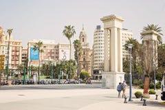 Malaga miasta widok Fotografia Royalty Free