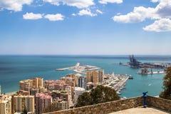 Malaga miasto Hiszpania Zdjęcie Royalty Free