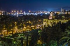 Malaga night Stock Image