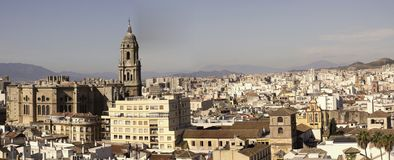 Malaga panorama Stock Photography