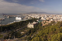 Malaga panorama Royalty Free Stock Images