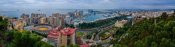 Malaga panoramic view Stock Photography