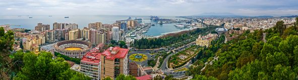 Malaga panoramic view Royalty Free Stock Images