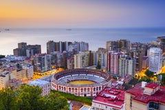 Malaga, paysage urbain de l'Espagne Photographie stock libre de droits