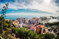 Malaga pejzaż miejski fotografia stock