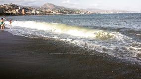 Malaga plaża Fotografia Stock