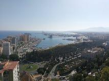 Malaga port Zdjęcie Royalty Free