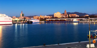 Malaga from port in  morning time. Spain Stock Images