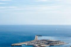 Malaga port. View of Malaga port, Costa del Sol, Andalusia, Spain Spain stock photography