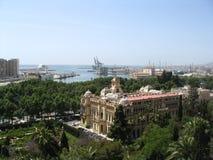 Malaga, porto marittimo, Spagna Fotografia Stock