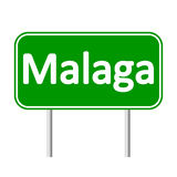 Malaga road sign. Royalty Free Stock Images