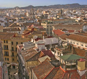malaga rooftops spain royaltyfria foton