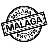 Malaga rubber stamp Royalty Free Stock Images