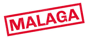 Malaga rubber stamp Stock Photo
