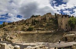 Malaga rzymianina Amphitheatre Obrazy Royalty Free