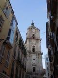 Malaga-San Juan gata Arkivbilder