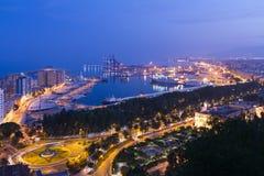 Malaga scenisk sikt Arkivfoton