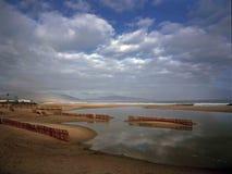 Malaga seaside sand beach Royalty Free Stock Images