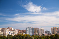 Malaga Skyline Royalty Free Stock Image