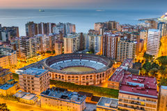 Malaga Skyline Stock Photography