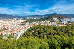 Malaga skyline Spain Royalty Free Stock Images