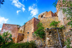 Malaga Spain Alcazaba Stock Photography