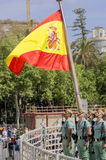 MALAGA, SPAIN - APRIL 09: Spanish Legionarios march on a militar Royalty Free Stock Images