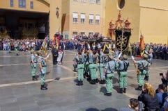 MALAGA, SPAIN - APRIL 09: Spanish Legionarios march on a militar Stock Photo