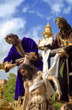 MALAGA, SPAIN - APRIL 09: traditional processions of Holy Week i Stock Photo