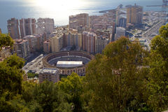Malaga. Spain The arena for bullfight Royalty Free Stock Images
