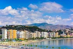 Malaga Spain Beach Stock Image