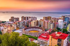 Malaga, Spain Cityscape Royalty Free Stock Photography