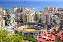 Malaga, Spain Cityscape at Royalty Free Stock Photography