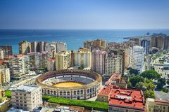 Malaga, Spain Cityscape at Royalty Free Stock Photo
