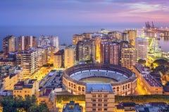 Malaga, Spain Cityscape on the Sea Stock Images