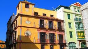 Sun shining on old Malaga building royalty free stock image