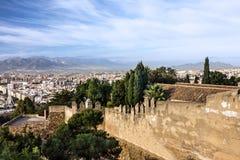 Malaga in Spain. Gibralfaro Castle, fortress. Stock Image