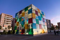 MALAGA, SPAIN - JANUARY 01, 2018: Pompidou centre in Malaga, Spa. In. It is the second most populous city of Andalusia and the sixth largest in Spain stock photos