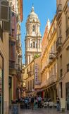 In the streets of Malaga in Spain Stock Photos