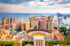 Malaga, Spain skyline Stock Photography