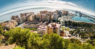 Malaga Spanien Arkivbilder