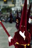 MALAGA SPANIEN - APRIL 12: Traditionella processionar av helig vecka I Royaltyfri Fotografi