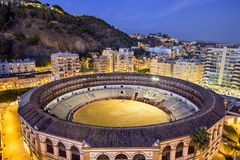 Malaga Spanien Cityscape Arkivbilder