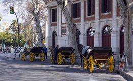 Malaga Spanien, Februari 2019 arkivbild
