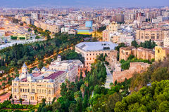 Malaga Spanje stock foto