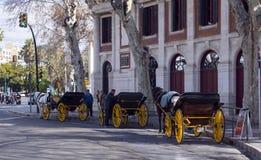 Malaga, Spanje, Februari 2019 stock fotografie