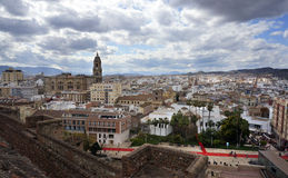 Malaga Spian Cityscape Day Stock Photos