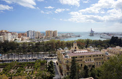 Malaga Spian Cityscape Day Royalty Free Stock Photography